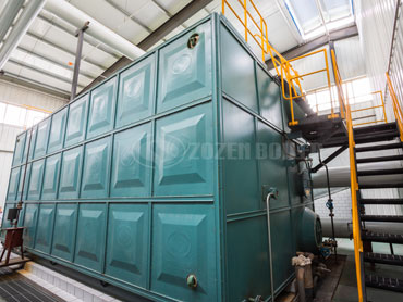 10 tph SZS condensing gas fired boiler in China