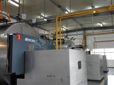 6 tph WNS condensing gas fired steam boiler in China