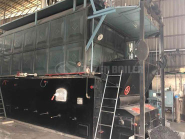 6 tph SZL coal fired steam boiler for feed industry in China