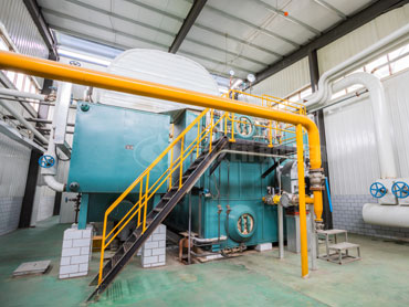 40 tph SZS gas fired boiler in China